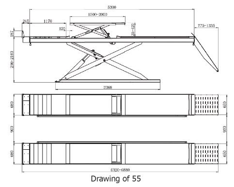 Alignment Scissor Lift,Two-post Lift,Ultra-thin Alignment Scissor Lift